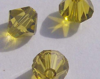 earance -- 8mm Swarovski crystal beads 8mm BICONE style 5301 Crystal Beads Lime - 6 pieces