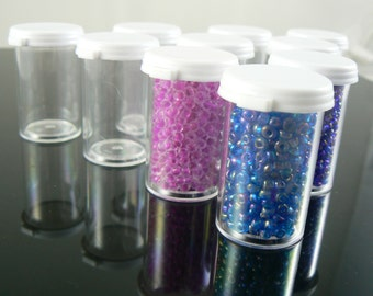 3.5 dram, small plastic containers great for storing beads or other small items, 10 count