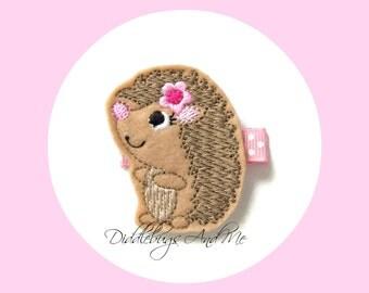 Hedgehog Hair Clip, Girls Animal Hair Clip, Toddler Hair Clips, Hedge Hog Hair Clip, Girls Hair Accessories,  M2M Hair Clips, Spring Clips