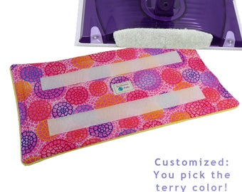 Reusable Swiffer Wet Jet Pads, LADYBUG FAIR, EcoGreen Pads, Washable pads, Terry Cloth Pads, Velcro Wet Jet pad, Pink Pads for your WetJet