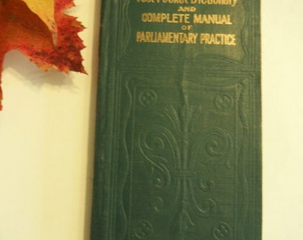 1901 Donahue's Pocket Dictionary Victorian Antique 28000 Words Rules for Spelling Grammar Laws Postal Revenue Laws Proofreading