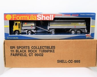 1997 Vintage Toy Truck, Shell Oil Company Toy Truck Bank MIB
