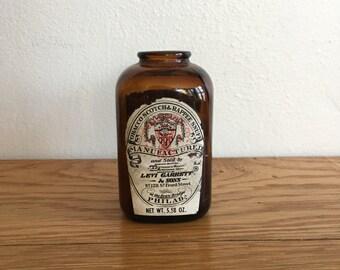 Vintage Levi Garrett Tobacco Snuff Jar