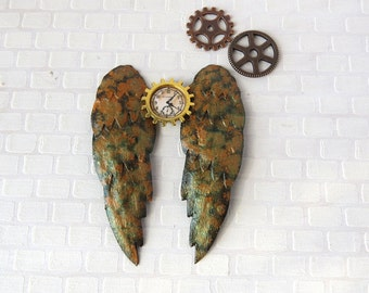 Steampunk rusted angel wings in 1:12 scale