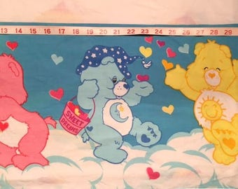 Twin Vintage Care Bear Flat Sheet