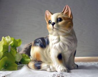 Vintage Napcoware Calico Cat Planter - Vintage Cat Planter - Figural Plant Holder Japan
