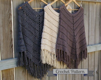 Crochet Pattern Boho Poncho Pattern, Crochet Poncho Pattern, Instant Download
