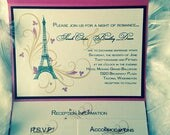 This is a Custom Listing for Michelle Walker - 100 Paris Pocket Invitation Suites