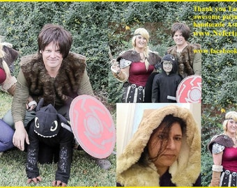 HTTYD Astrid Costume, Bird Skulls and Spikes for Cosplay Costume, How To Train Your Dragon DIY Astrid Skirt and Necklace