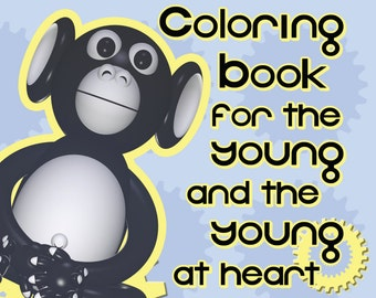 Ape-Gear's Coloring book for the young and the young at heart