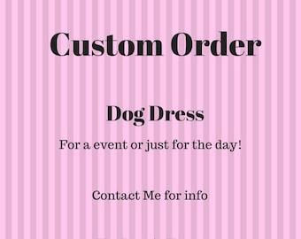 Custom Made Dog Dress Emily Huertas - The Doggie House