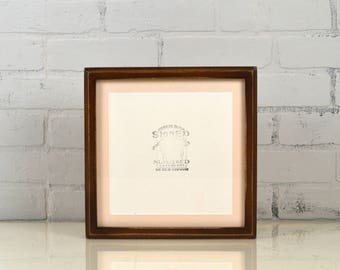 """9.8x9.8"""" Square Picture Frame in Deep Cove Style Vintage Dark Wood Tone - Includes Mat for 8x8"""" Photo - IN STOCK - Same Day Shipping 8 x 8"""