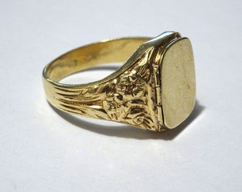 Unique Vintage Hand made 14k Ring