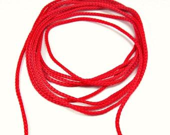 Red crochet cord, red crochet yarn, macrame cord, macrame yarn, 100m