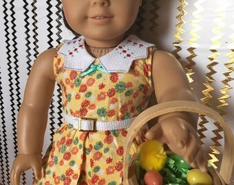 Easter Basket, 18 in doll scale