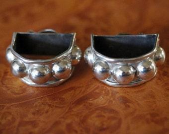 Taxco SIlver Earrings Modernist
