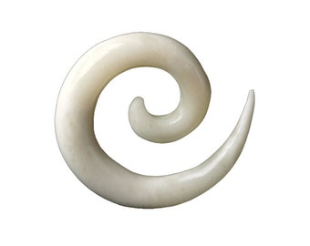 Bone Spiral Ear Streatcher, Gauge jewellery, Ear stretcher, Tribu, Organic ear stretcher, Gauges, Bone ear stretcher, Tribal stretcher