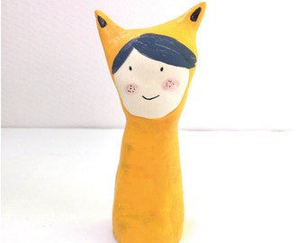 yellow cat girl