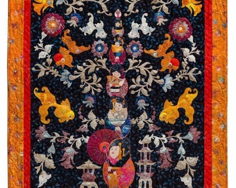 Pagoda Sisters Asian Applique Quilt Fusion Phillips Design House Pattern