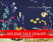 Holiday Sale - Wall Decal Kids Under the Sea Wall Decal Collection Nursery Wall Decals