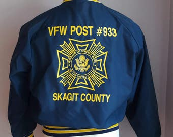 vintage military bomber jacket, Veterans of Foreign Wars of the United States