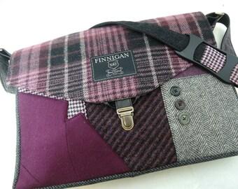 Womens Messenger Bag  messenger bag mens laptop Messenger Bag Messenger bag Laptop Sleeve  Recycled Suit Coat Upcycled