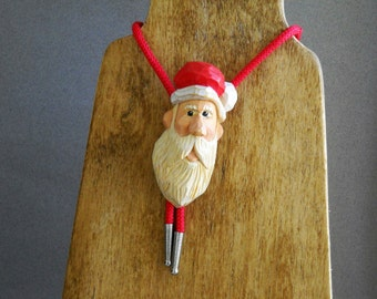 Christmas bolo tie with Santa