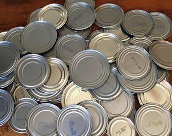 Metal Tin Can Lids Repurposed Craft Supply Set of 50
