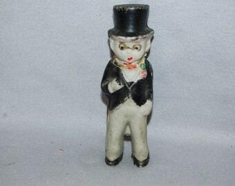 Large Bisque  Groom Doll / Vintage / Frozen Charlotte /  Penny Doll /  Vintage Dolls