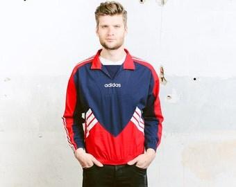 Vintage ADIDAS Spellout Smock Jacket . 90s Coat Anorak Jacket Outerwear Festival Jacket Mens  Bold Sports Jacket Activewear . size Small S