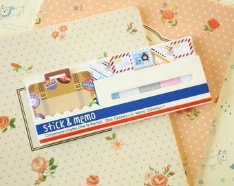 Bon Voyage Eiffel Stick & Memo sticker note tabs