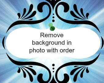 Remove background of photo with order