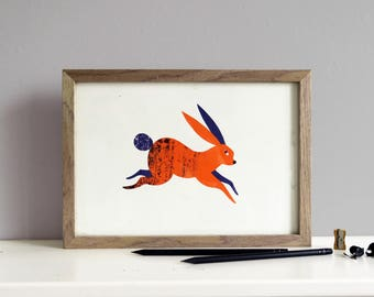 Rabbit Screenprint