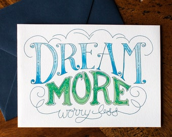 Dream More - Card