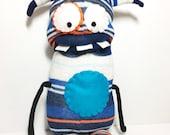 WERLIN - Handmade Monster, Sock Monster, Handmade Toy, Monster