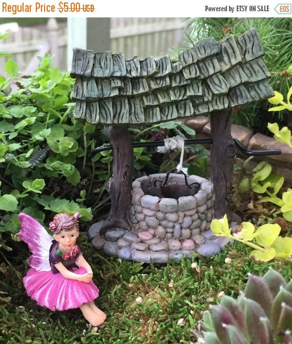 "SALE Tiny Fairy ""Rosie"" Figurine, Fairy Garden Accessory, Garden Decor, Topper, Terrarium Accessory, Sitting Fairy Figurine"