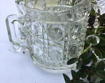 Glass creamer pitcher