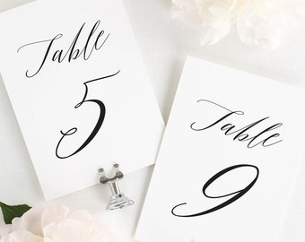 Lauren Design - Table Numbers - 4x6""