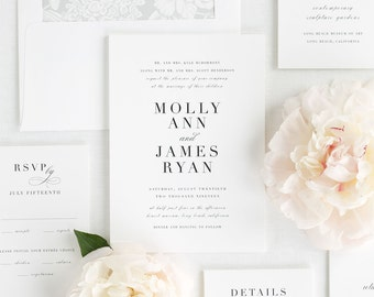 Serif Romance Wedding Invitations - Deposit