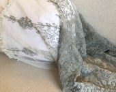 Bella lace pale blue green bolster cover