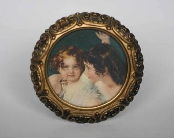 vintage miniature victorian portrait