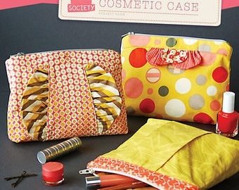 In A Clutch Cosmetic Case Pattern ~ Straight Stitch Society ~ Liesl + Co