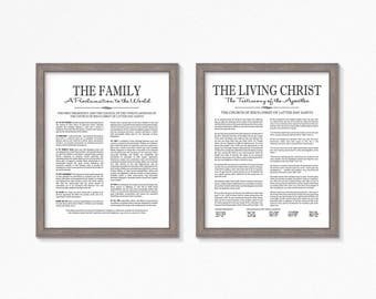 LDS The Living Christ and Family Proclamation Printable-Choose your Sizes-Digital Files-LDS poster printables
