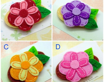Handmade felt snap hair clip (FC- Group 1)