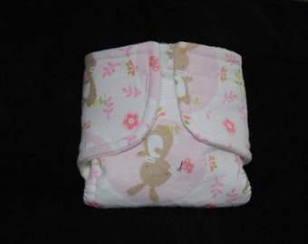Baby Doll Diaper Easter Bunny - Size Large