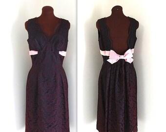 50% OFF SALE 1960s Dress / Illusion Lace Dress / Cocktail Dress