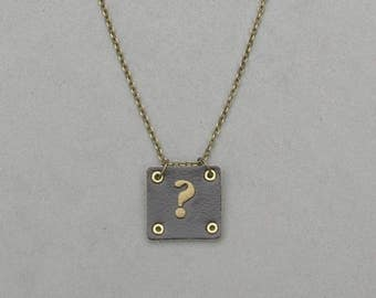 Square Leather ? Necklace
