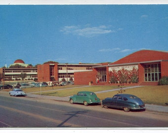 San Antonio College Cars San Antonio Texas 1950s postcard
