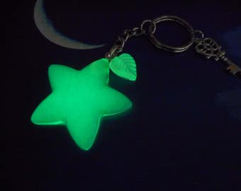 Kingdom Hearts: Paopu Fruit - GREEN -  glow in the dark-key chain, necklace, cell phone plug, book mark etc.