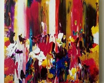 Melting Wax Original Acrylic Canvas Painting
